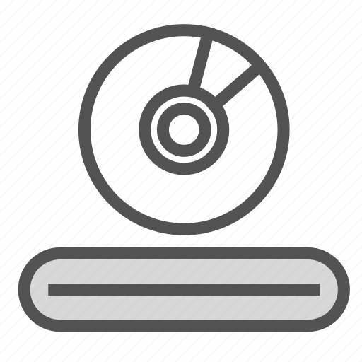 cd, dvd, entertainment, media, player icon