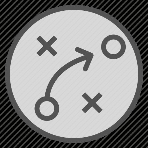 arrow, circle, mark, move icon