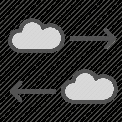 cloud, copy, cut, internet, move, network icon