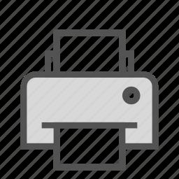 device, fax, hardware, printer icon