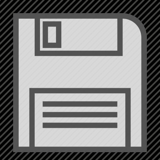 disk, floppy, old, storage, vintage icon