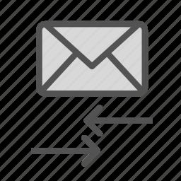 arrow, envelope, letter, mail, transfer icon