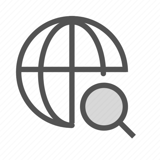 glass, internet, magnifying, network, search icon
