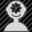 brain, machine, man, people, think icon