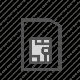 card, chip, phone, sim icon