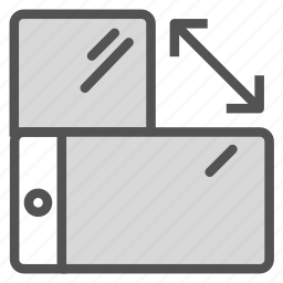 mobile, phone, screen, swap, turn icon