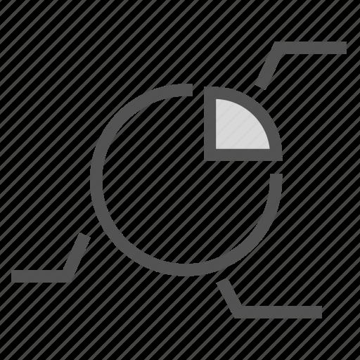 analysis, chart, description, pie, report icon