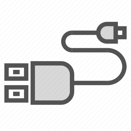 cable, charger, plug icon