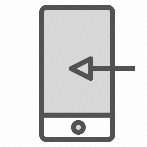 arrow, device, import, left, phone, smart icon