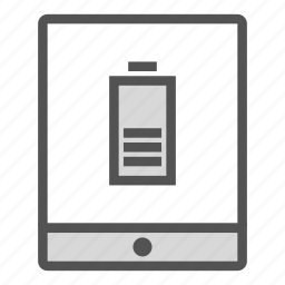 batterie, device, portable, tablet icon