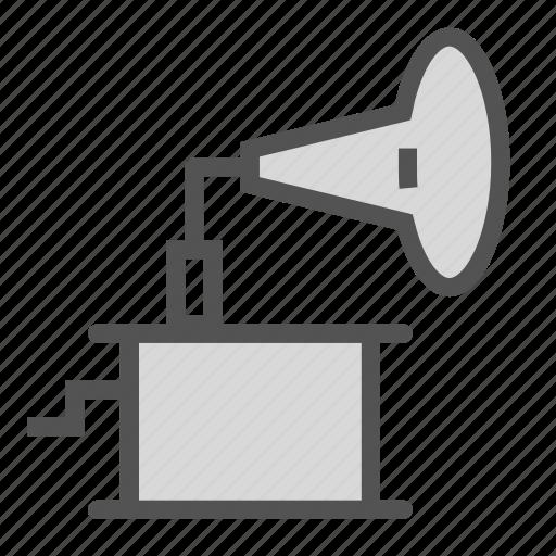 player, turntable, vintage, vinyl icon