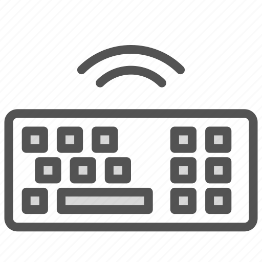 computer, desktop, hardware, keyboard, pc, wireless icon