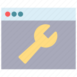 browser, fix, key, repair, tool, wrench icon