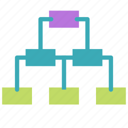 branching, connection, diagram, network, tree icon