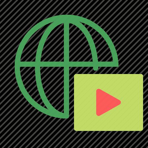 internet, media, network, play, video icon