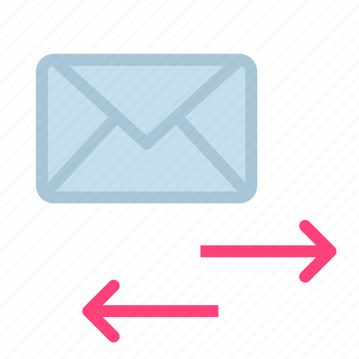 arrow, envelope, letter, mail, transfer icon