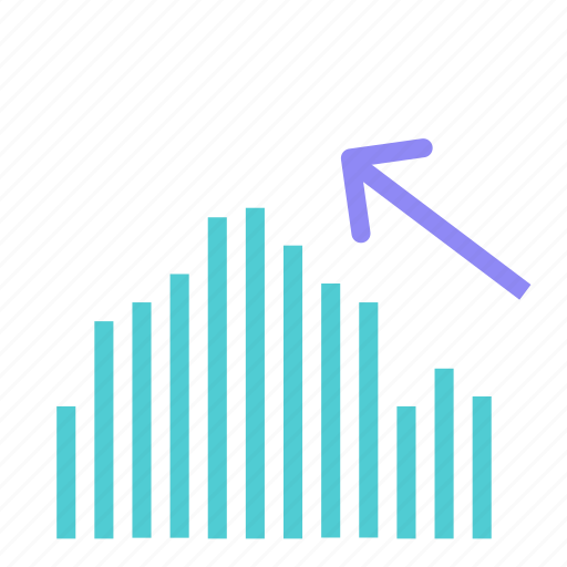 arrow, increase, lines, statistics, stats, up icon