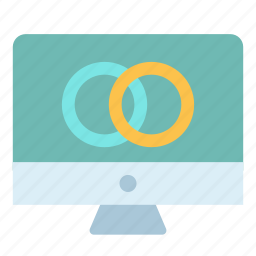 circle, connection, lcd, monitor, screen icon