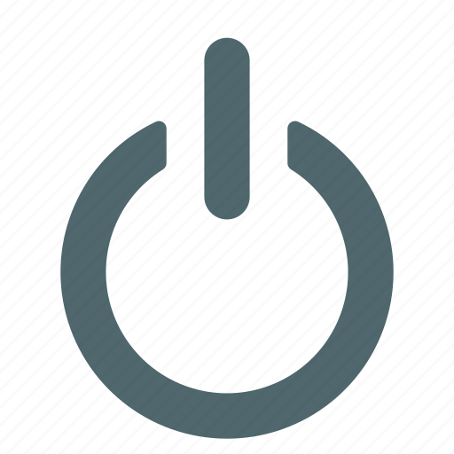 on, power, push, switch icon