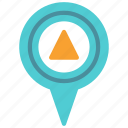 location, mark, pin, triangle icon