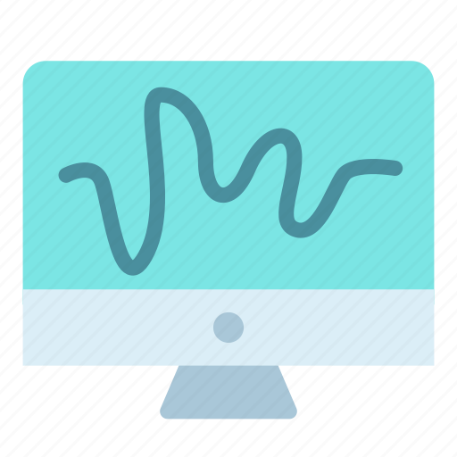 drawing, line, monitor, screen icon
