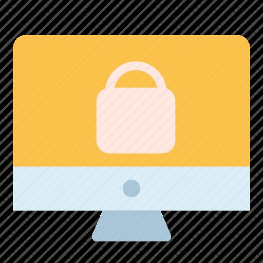 key, lcd, lock, monitor, screen icon