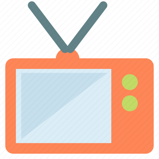 antenna, old, small, television, tv icon