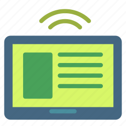 device, feed, rss, signal, smart, tablet icon