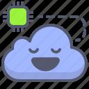cloud, cpu, edit, network, options, wheel icon