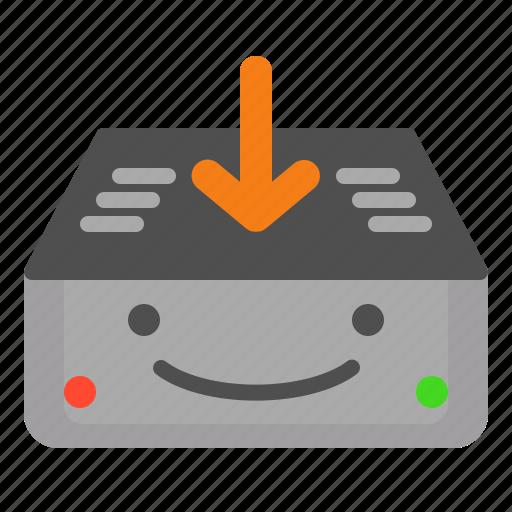 desktop, down, download, machine, media, pc, server icon