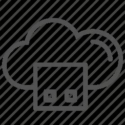 cloud, internet, square, storage icon