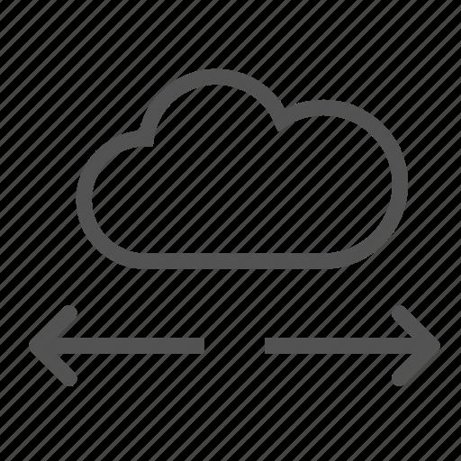arrow, cloud, copy, cut, move icon