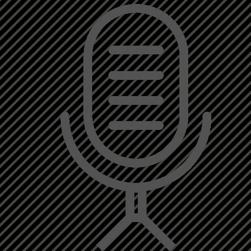 mic, microphone, radio, vintage icon