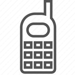 mobile, old, phone icon