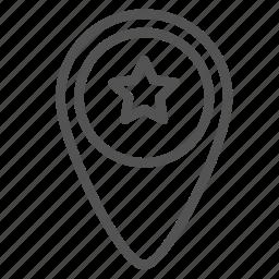 fav, favorite, location, mark, pin, star icon