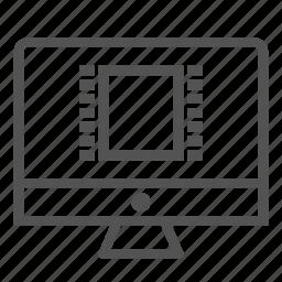 media, monitor, movie, screen, video icon