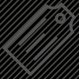 etiquette, large, tag icon