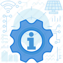 answers, cogwheel, gear, info, information, maintenance, options icon