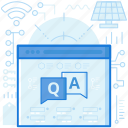 answers, chat, communication, questions, tech, webpage, website icon