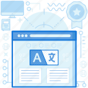 browser, language, tech, translate, translation, webpage, website