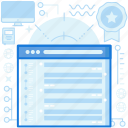 browser, chat, list, menu, messages, webpage, website icon