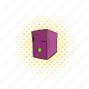 case, comics, computer, equipment, server, system, technology icon