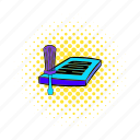 circuit, comics, equipment, harddisk, hdd, repair, technology icon