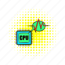 chip, circuit, comics, computer, processor, repair, service icon