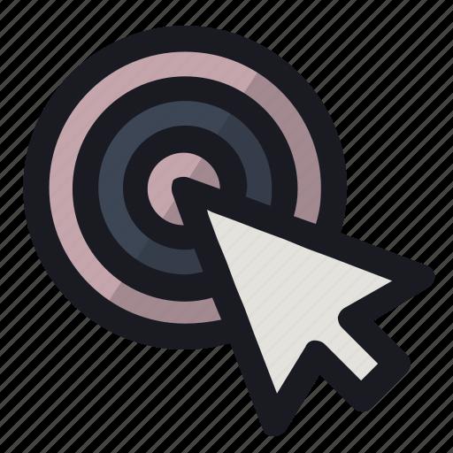aim, arrow, choose, pointer, target icon