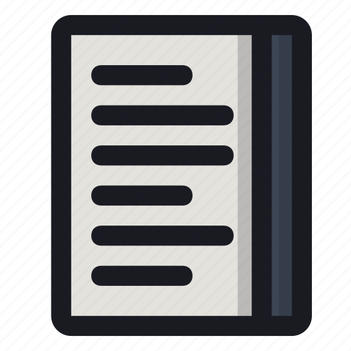book, copybook, notes, page, text icon