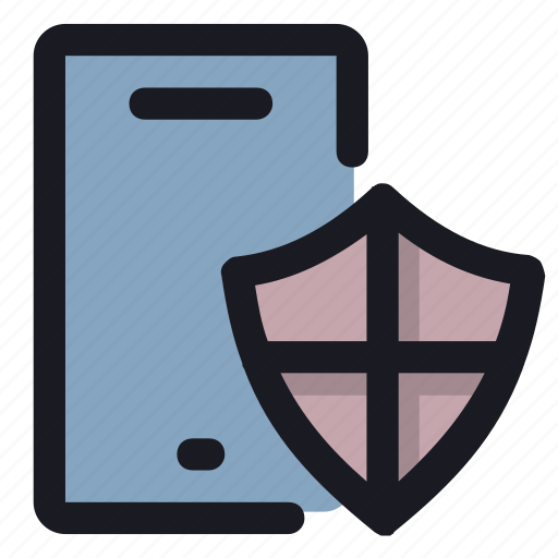 guard, mobile, phone, protect, security icon