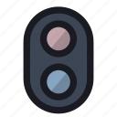 light, regulate, road, stop, traffic icon