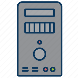 computer, data, desktop computer, server icon