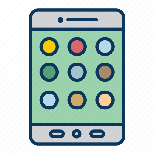 cell phone, gadget, iphone, phone, smart phone, tablet icon